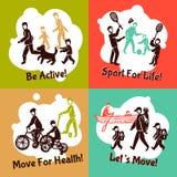 Fizycznej aktywności set Obrazy Stock