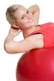 fizycznej fitness kobieta uśmiechnięta Obraz Royalty Free