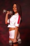 fizyczny fitness pretty woman obraz royalty free