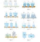Fizyka - nacisków kształty w cieczach ilustracja wektor