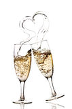 Fizz heart Royalty Free Stock Images