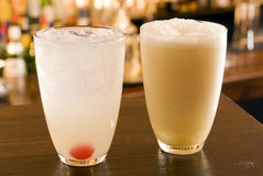 Fizzes Collins and Ramos Fizz stock images