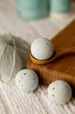 Fizzies bleus de bain photographie stock