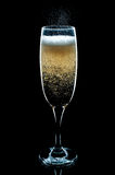 Fizzing Glass of Champagne Royalty Free Stock Image