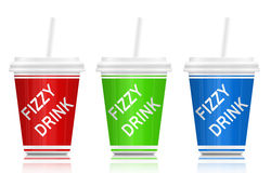 Fizzy drinks. stock illustration