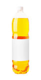Fizzy orange drink in a plastic bottle Royalty Free Stock Photos