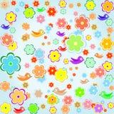 fjäder för blomma för bakgrundsfågel färgrik vektor illustrationer