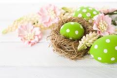 fjäder för easter äggblommor Royaltyfria Bilder