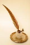 fjäderbläckhorn Royaltyfri Fotografi