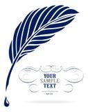 fjäderbläckpenna Royaltyfri Foto