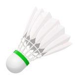 Fjäderboll för badminton från fågelfjädrar Arkivfoto