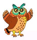 fjäderdräkt för rovdjur för symbol för örnuggla Arkivbilder