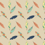 Fjädermodell i guling- och blåttsignaler stock illustrationer