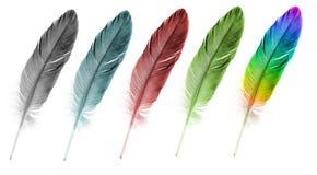 Fjäderpennset av abstrakt färg Arkivfoto