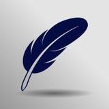 Fjädersymbol En av uppsättningrengöringsduksymboler Royaltyfria Bilder