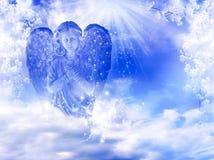 Fjädra ängeln Arkivfoton