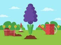 Fjädra att arbeta i trädgården Royaltyfria Foton