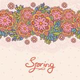 Gulliga blom- romantiska seamless mönstrar. Arkivfoto