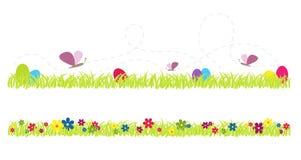 Fjädra den gulliga gräsvektorillustrationen Arkivbild