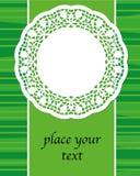 fjädra det gröna banret med servetten på den gröna bakgrunden, vektor Royaltyfria Bilder