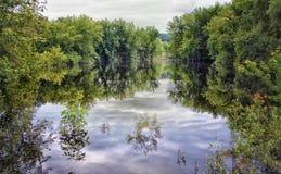 Fjädra floder Royaltyfri Fotografi