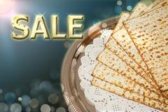 Fjädra judisk ferie av påskhögtiden och dess attribut, inskriften - försäljning stock illustrationer