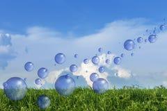 Fjädra nytt bubblar Royaltyfri Bild