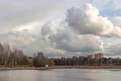 Fjädra på floden Arkivfoto