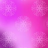 Fjädra rosa färger och den purpurfärgade sömlösa modellen av härliga blommor Arkivfoton