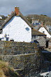 Cadgwith Cove Cornwall Arkivfoton