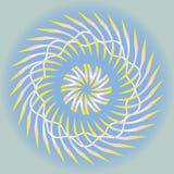 Dekorativt esoteriskt fjädrar skymandalaen vektor illustrationer