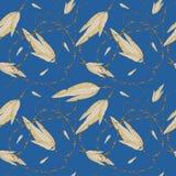 Fjädrar och pärlor, sömlös modell Arkivbilder