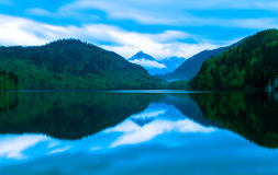 Fjälläng sjö i Tyskland Fotografering för Bildbyråer