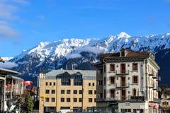 Fjällängar - Interlaken - Schweiz royaltyfria bilder
