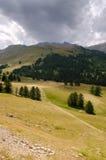 Fjällängar mellan Italien och Frankrike Royaltyfria Bilder