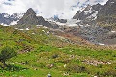 Fjällängar region av Frankrike, Italien, Schweiz royaltyfri bild