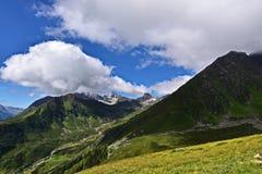Fjällängpanorama i Österrike Royaltyfri Foto