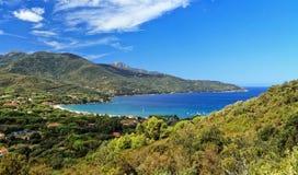Fjärd av Biodola, Elba Island Royaltyfri Fotografi