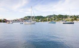 fjärd av Carenage, St George & x27; s Grenada royaltyfri foto