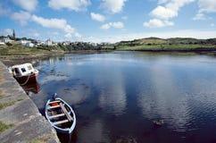 Fjärd av Clifden, Connemara, Irland Arkivfoto