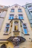 Fjärd av en historisk byggnad i Aachen Royaltyfri Foto