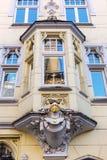 Fjärd av en historisk byggnad i Aachen Royaltyfri Fotografi