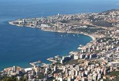 Fjärd av Jounieh, Libanon royaltyfri bild