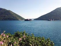 Fjärd av Kotor i Montenegro Royaltyfria Foton