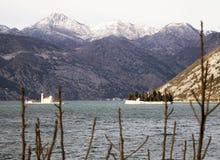 Fjärd av kotor i Montenegro i Adriatiskt havet Royaltyfri Fotografi