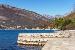 Fjärd av Kotor. Montenegro. Royaltyfria Bilder