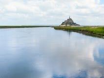 Fjärd av Mont Saint-Michel, Frankrike Royaltyfria Foton