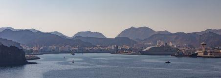 Fjärd av Mutrah, Muscat, Oman royaltyfri fotografi