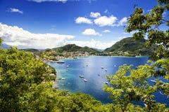 Fjärd av Terre-de-Haute, Les Saintes öar, Guadeloupe Arkivfoton