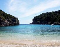 Fjärd för St Spyridon i den Korfu ön, Grekland Fotografering för Bildbyråer